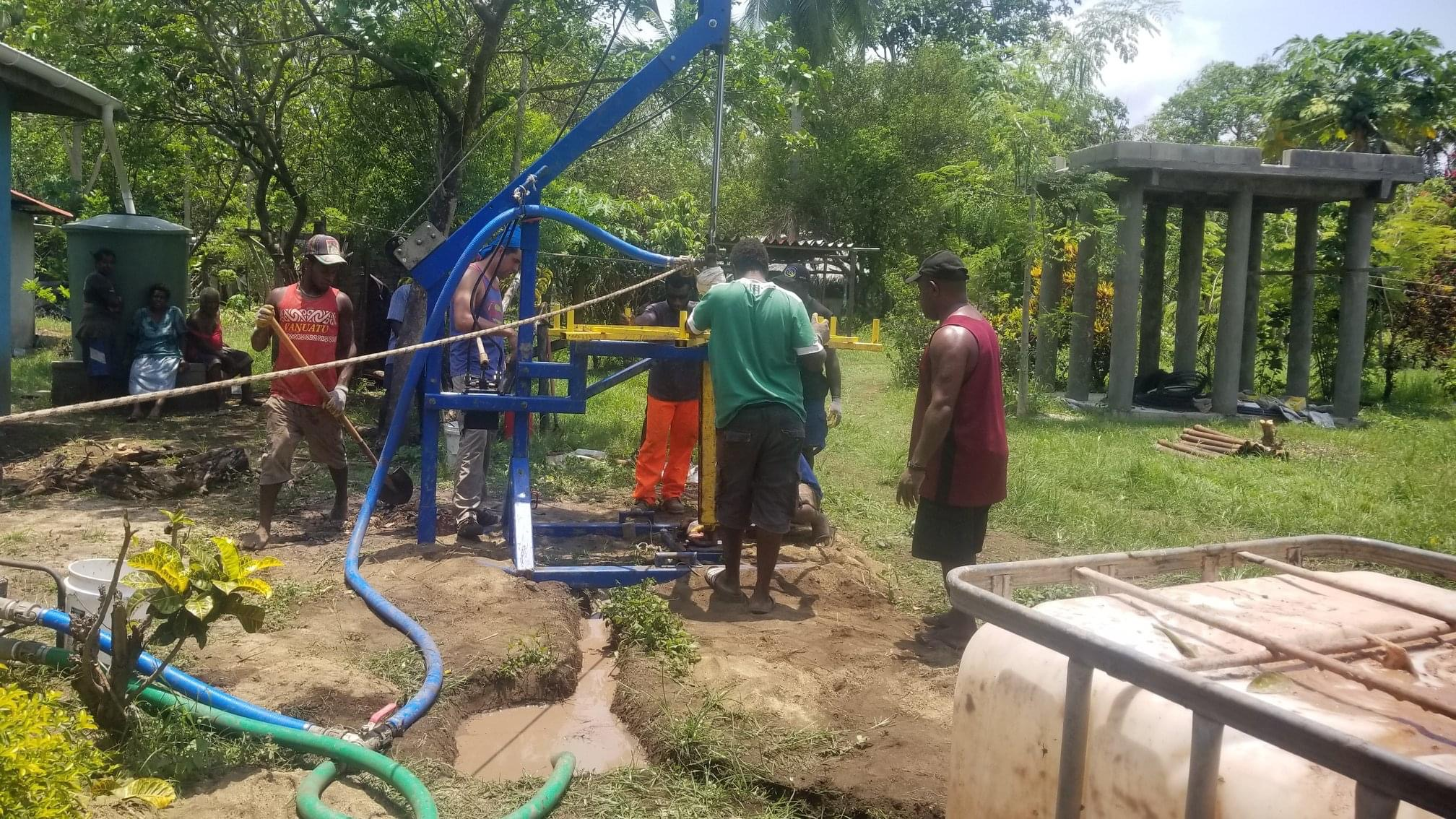 Drilling Water Wells in Vanuatu