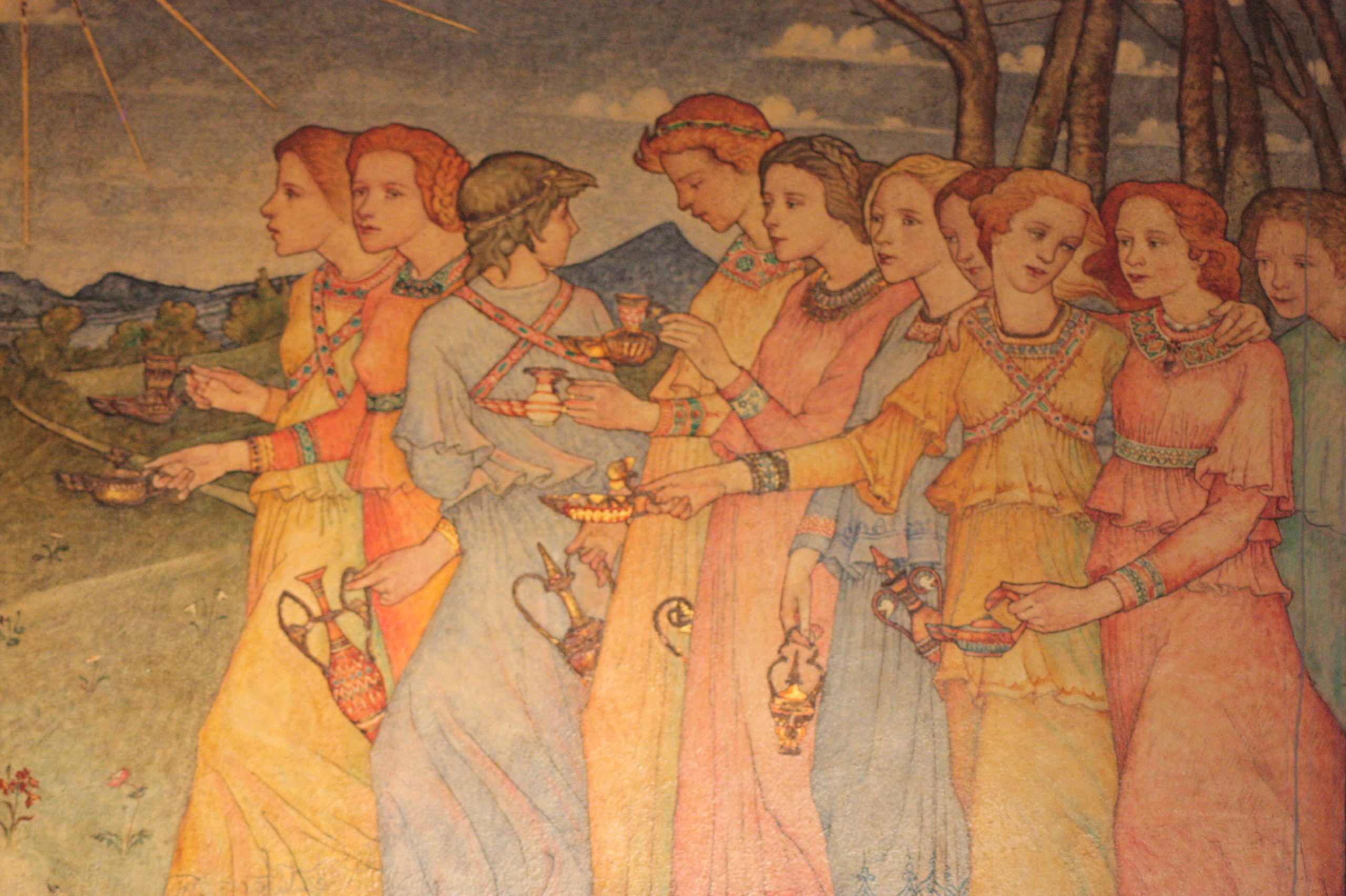 Phoebe Anna Traquair's painting The Parable of the Ten Virgins