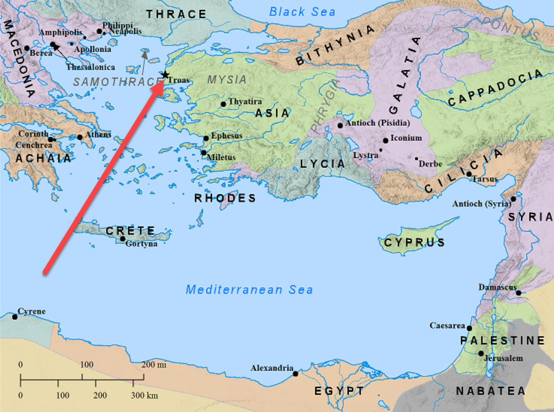 Location of Troas